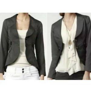 Cabi Gray Work It Blazer Size 4 Jacket Style #769